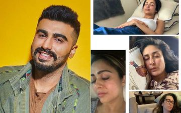 Coronavirus Pandemic: Arjun Kapoor Happily Trolls Girlfriend Malaika Arora's Sleepy Picture With Kareena, Karisma And Amruta