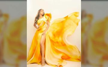Malaika Arora Looks Totally Divine In A Yellow Satin Gown, The Diva Is Killing It And How!