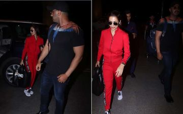 Malaika Arora And Arjun Kapoor Take Off On A Sweet Escapade – View Airport Pics