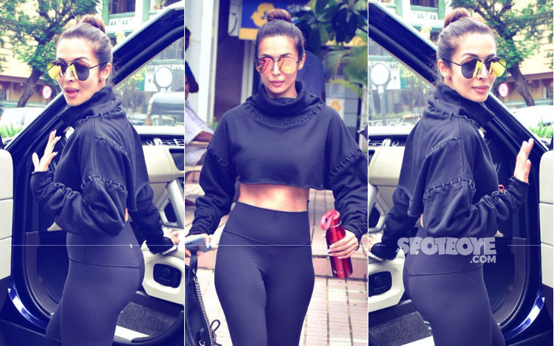 Rains Don't Dampen Spirits: Malaika Arora Spotted After A Workout Session