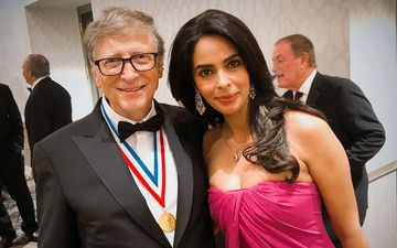Mallika Sherawat Attends Amazon Founder Jeff Bezos Lavish Party At His 23 Million Mansion; Poses With Bill Gates