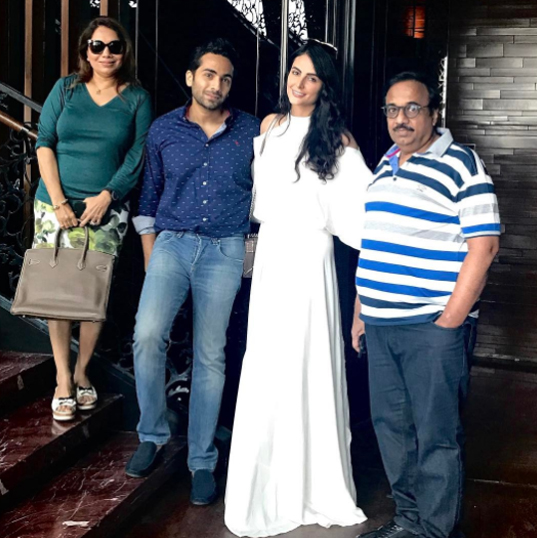 mandana karimi gaurav gupta and family