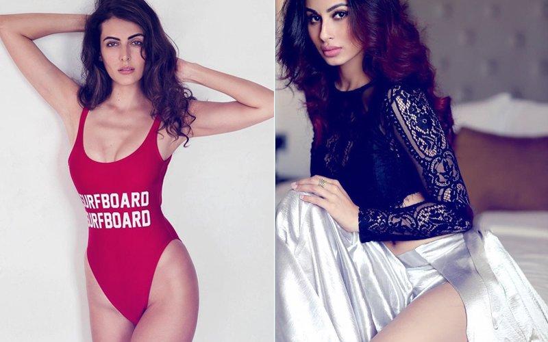 Sexy Saturday: Mandana Karimi Sports A Red Swimsuit, Mouni Roy Goes Black & White