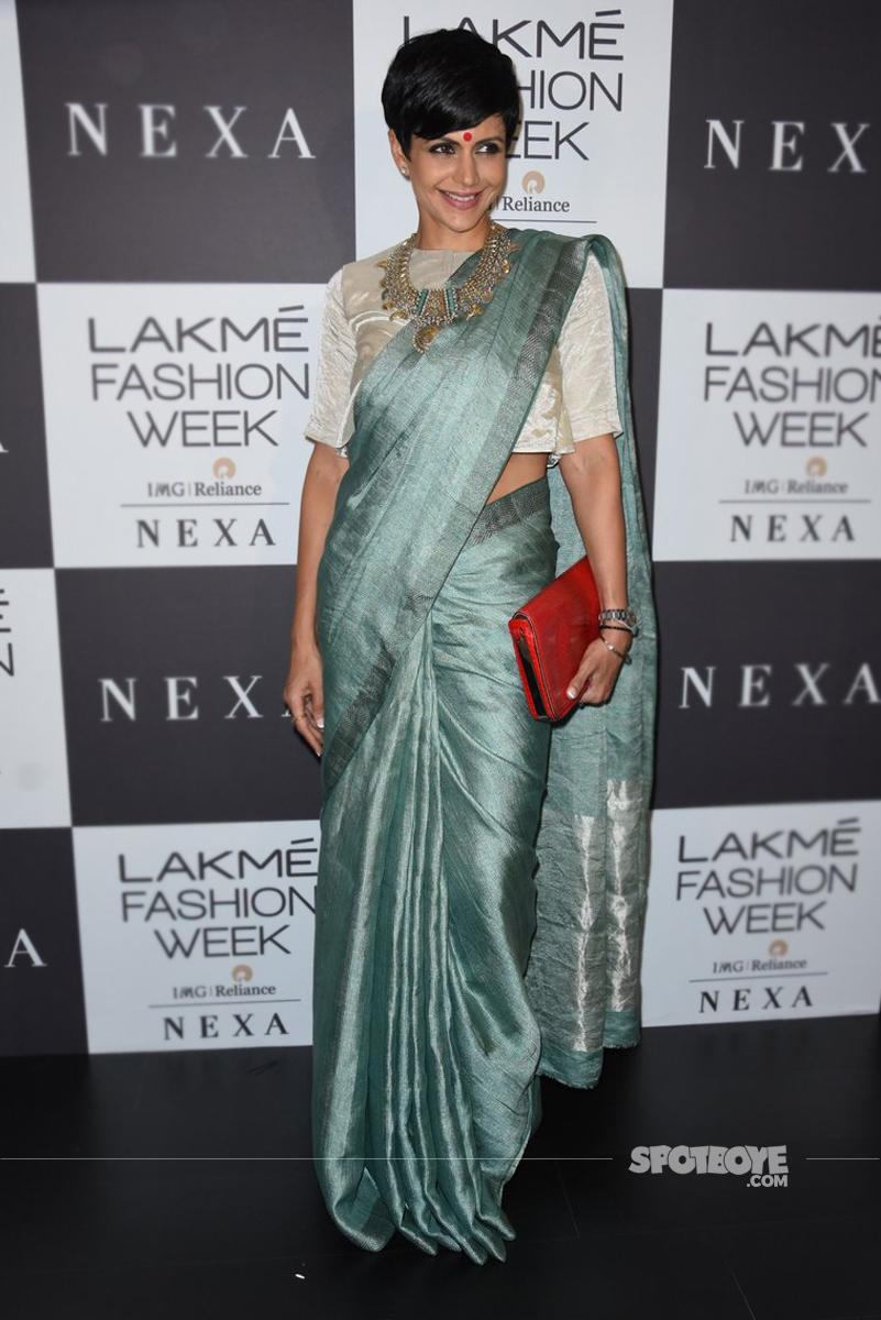 mandira bedi at the lakme fashion show