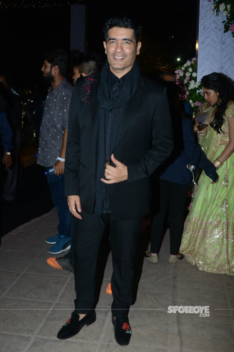 manish malhotra at poorna patel reception