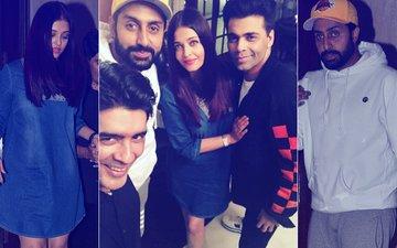 Aishwarya Rai-Abhishek Bachchan Enjoy A Quiet Dinner With Karan Johar & Manish Malhotra