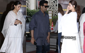 Manish Malhotra's Father's Prayer Meet: Alia Bhatt, Karan Johar, Kriti Sanon And Others