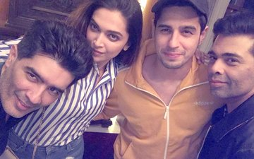 Deepika Padukone & Sidharth Malhotra's Chilled Out Night Scenes With Karan Johar