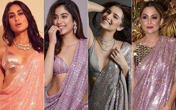 Kareena Kapoor, Janhvi Kapoor, Tara Sutaria Or Amrita Arora- Who Werked Manish Malhotra's Sequined Saree Better?