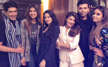Janhvi Kapoor, Jacqueline Fernandez, Shilpa Shetty, Karan Johar Party At Manish Malhotra's House