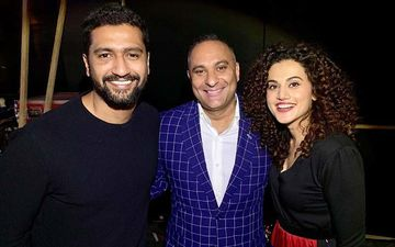 Manmarziyaan Jodi, Vicky Kaushal And Taapsee Pannu's Fan Moment With Comedian Russell Peters