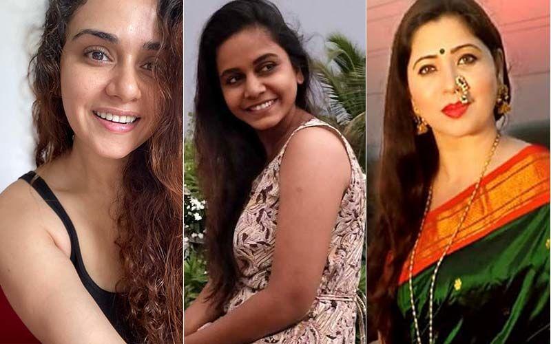 Marathi Actresses Amruta Khanvilkar, Hemangi Kavi And Deepali Sayyed Take On To The Reel Trend