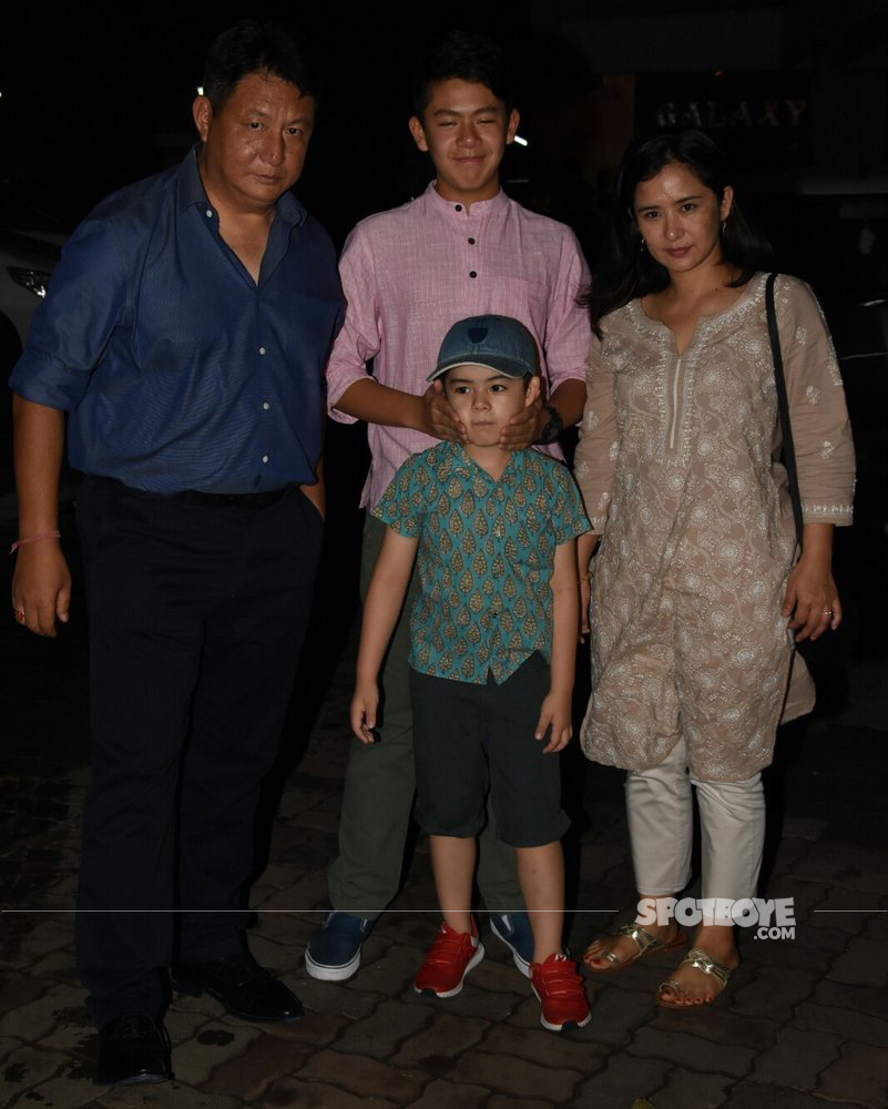 martin rey tangu with his family at salman khan eid party