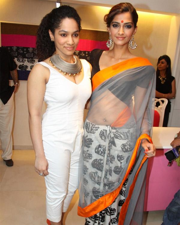masaba gupta and sonam kapoor at an event