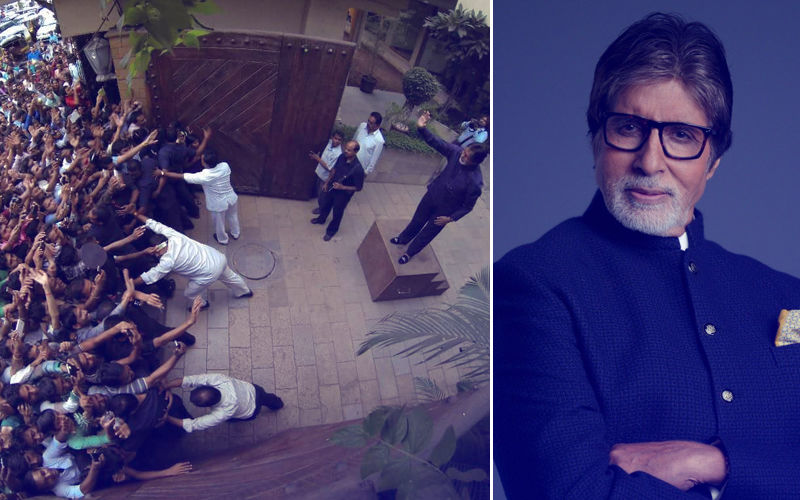 Mayhem Outside Amitabh Bachchan's Residence On His Birthday; View Pic