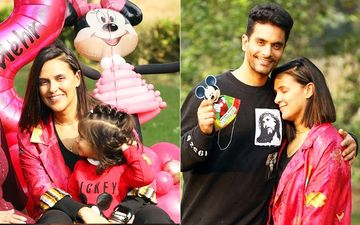 INSIDE Neha Dhupia-Angad Bedi's Daughter Mehr's Incredible 'Mickey Mouse' Themed Birthday Bash; Baby Mehr Looks Delighted- PICS