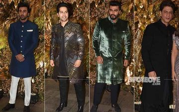 Armaan Jain's Reception: SRK, Varun Dhawan, Arjun Kapoor, Ranbir Kapoor Look Criminally Good; Can Someone Call 911?