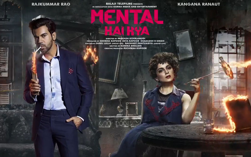 Mental Hai Kya Motion Poster: The Two Suspects Kangana Ranaut And Rajkummar Rao Go Wacky