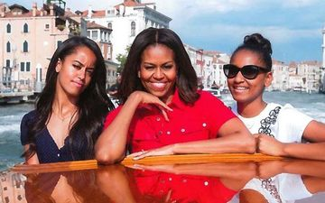 Former US President Barack Obama's Daughters Sasha And Malia Obama Shoot First Public Interview For Michelle's Documentary 'Becoming'