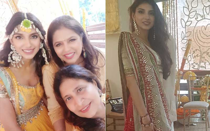Rana Daggubati-Miheeka Bajaj Haldi Ceremony Inside Pictures And Videos; Bride-To-Be Stuns In Mother's Wedding Lehenga