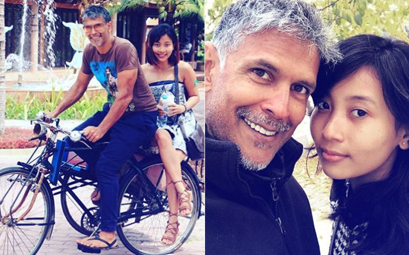 7 Adorable Pictures Of Milind Soman With Girlfriend Ankita Konwar That Spell Relationship Goals