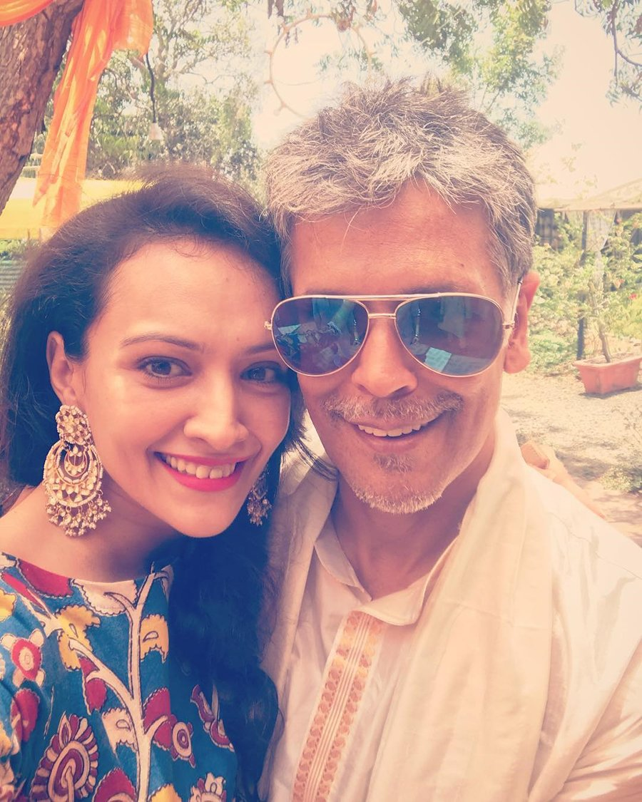 milind soman and dipannita sharma