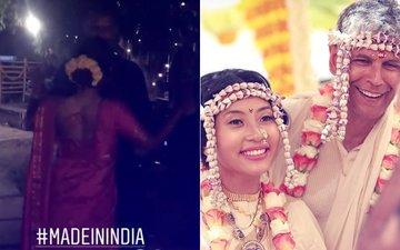 इस बार बीवी संग 'मेड इन इंडिया' गाने पर झूमे मिलिंद सोमन