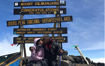 Milind Soman And Wife Ankita Konwar Celebrate Her 28th Birthday, Seal It With A Kiss At Mt Kilimanjaro