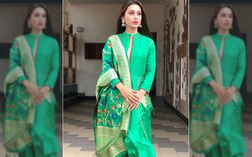 Mimi Chakraborty Looks Festive Ready In This Green Coloured Suit, Shares Pic On Instagram
