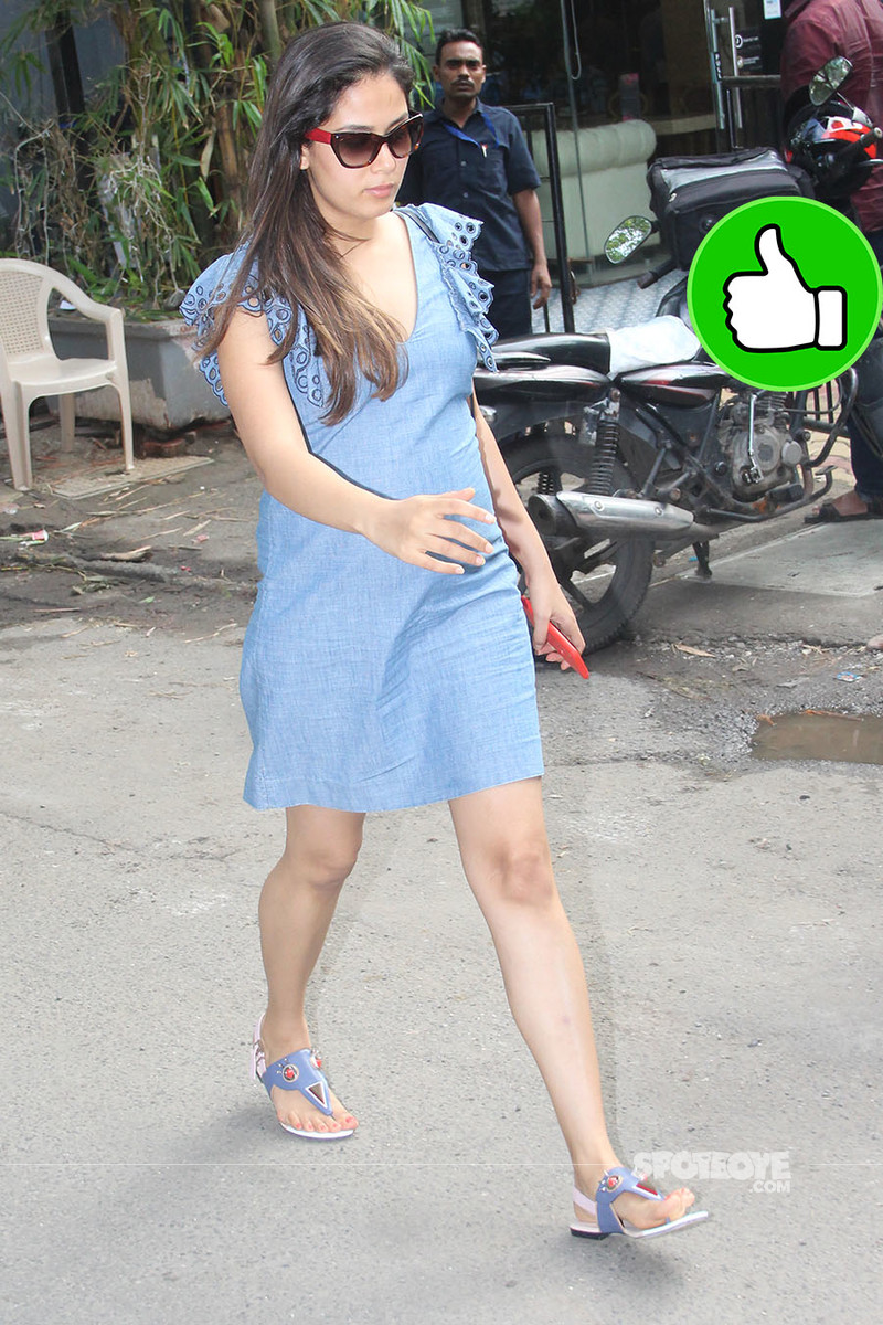 mira rajput snapped post lunch