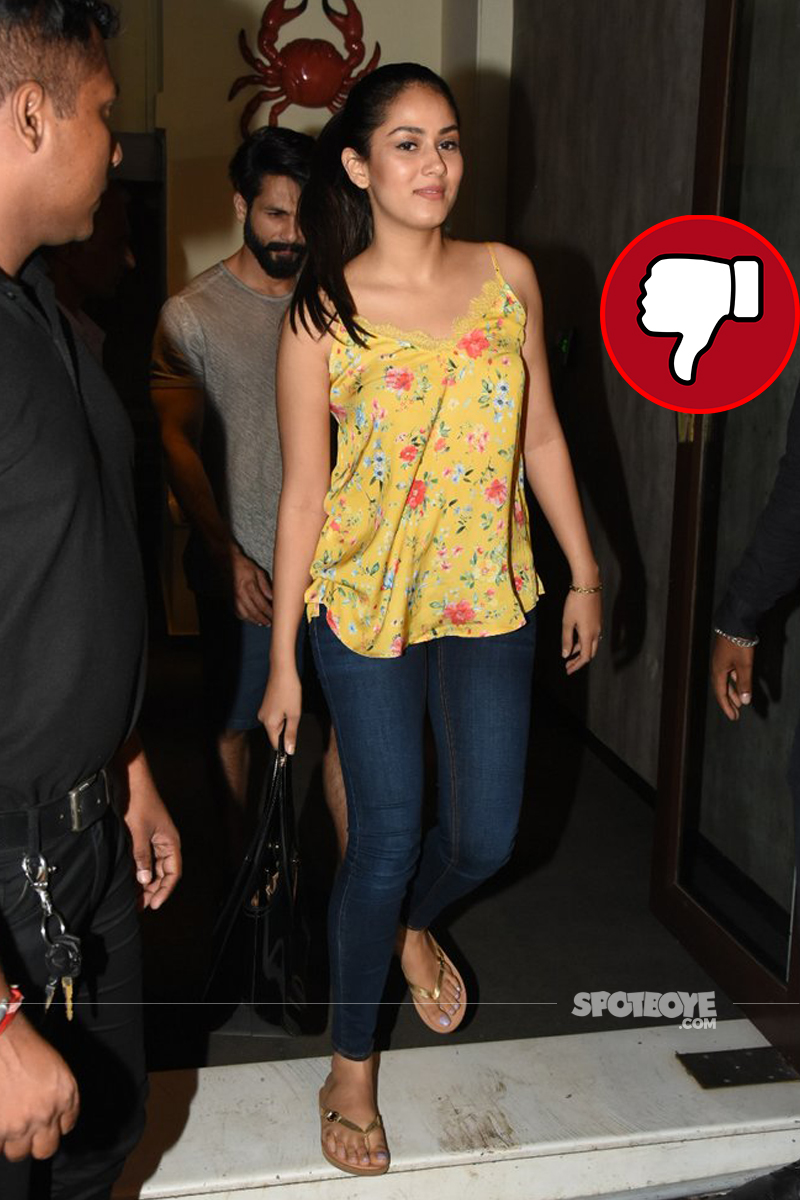 mira rajput spotted at bastian