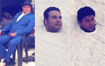 First Pictures: Krushna Abhishek, Mithun Chakraborty, Ali Asgar On the Sets Of The Drama Company