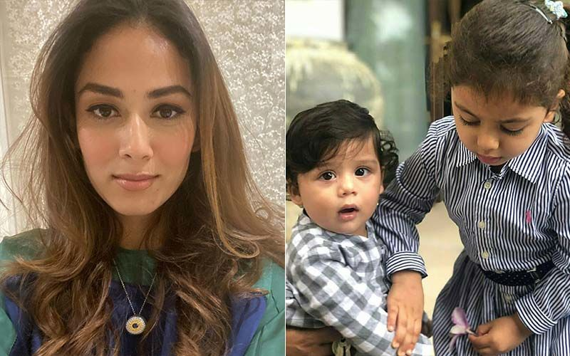 Mira Rajput Resorts To 'Homeschool In Bed' With Her Kids Misha And Zain; Gives A Glimpse Of Her Lazy Day