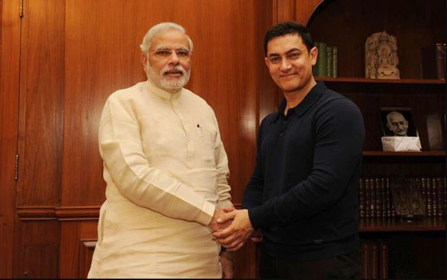 Aamir Khan With PM Modi