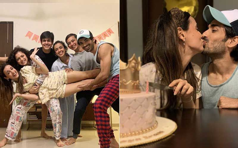 Sanaya Irani And Hubby Mohit Sehgal Share A Passionate Kiss As Irani Rings In Her Birthday; Actress Shares Midnight Celebration Pics