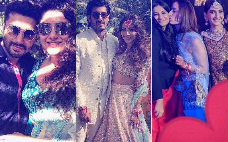 INSIDE PICS: Sonam, Arjun, Athiya, Shanaya LET THEIR HAIR DOWN At Mohit Marwah's Mehendi & Sangeet Ceremony
