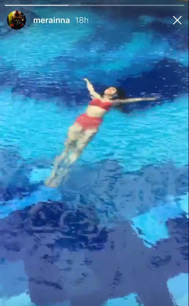 mouni roy in the pool