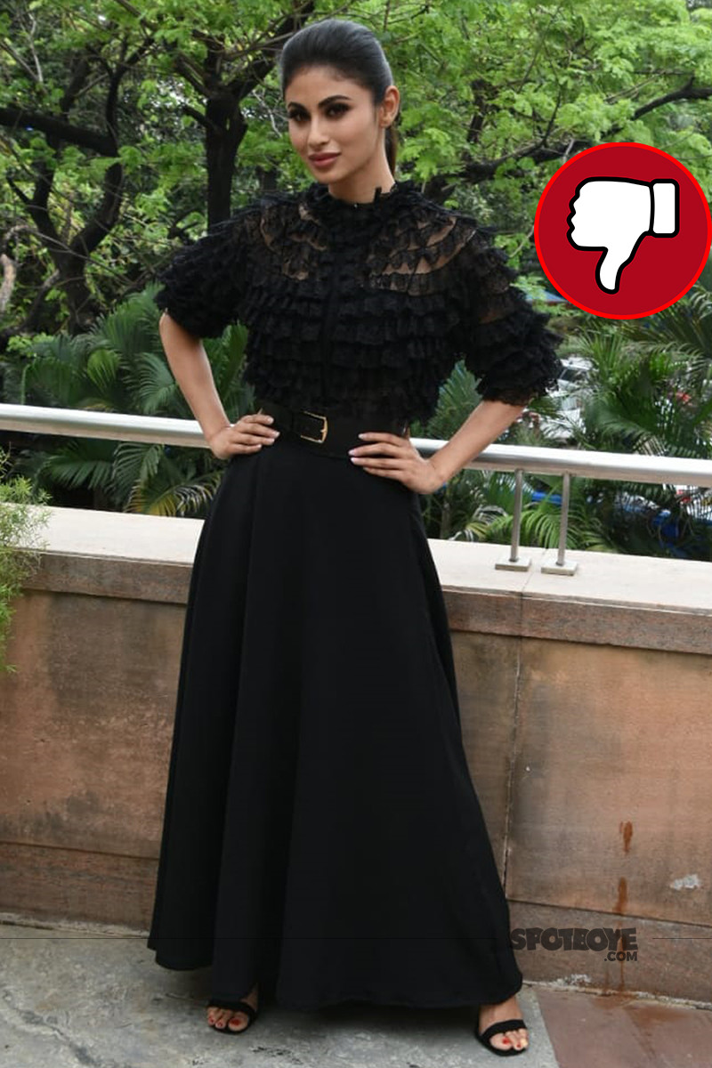 mouni roy snapped at gold promotions