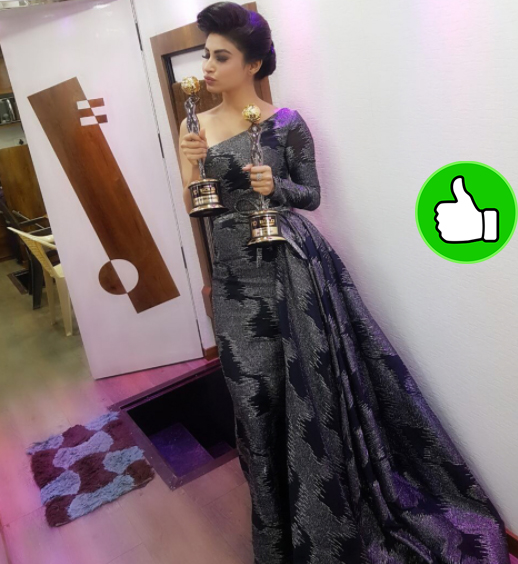 mouni roy with her awards gold awards