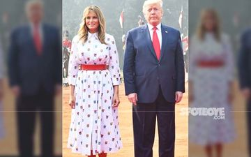 Donald Trump And Melania Trump Awkwardly Pose Against The Taj Mahal During India Visit - PICS