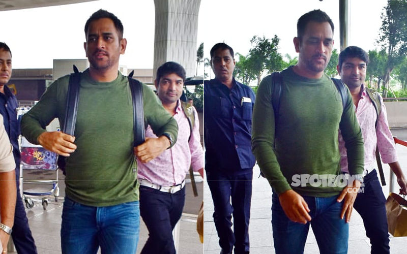 MS Dhoni Looks Cool As Cucumber As He Gets Papped At The Mumbai Airport