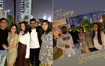 Sakshi Dhoni Brings In Her Birthday With MS Dhoni In A Sexy Gold Dress; Salman Khan's Sister Arpita, Sania Mirza Join The Celebration In Dubai – PICS Inside
