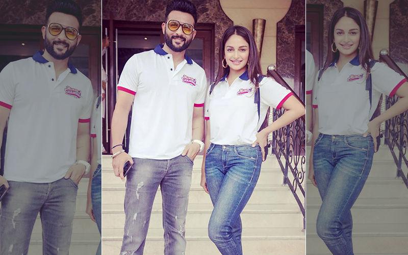 Munda Hi Chahida: Rubina Bajwa And Harish Verma Twinning In White During Promotion