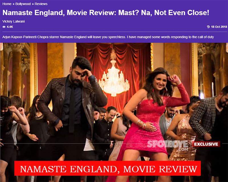 namaste england movie review