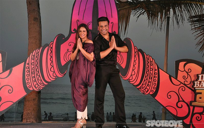 Krushna Abhishek & Mona Singh At The Launch Of India Banega Manch