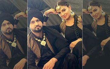 Nanak Mel: Roshan Prince And Rubina Bajwa Twinning In Black In The First Look Pic