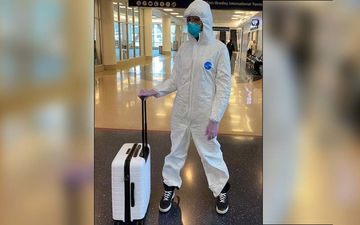 Supermodel Naomi Campbell Wears Coronavirus Combat Gear To Airport; Dons Hazmat Suit With Surgical Gloves And Mask - PICS