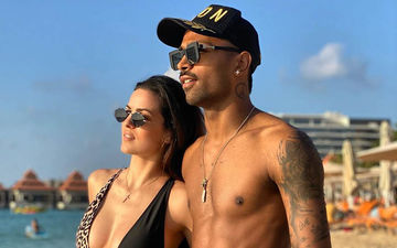 Ex-Bigg Boss Natasa Stankovic And Hardik Pandya Fire Up The Beach In Sexy Swimwear; Lady Sports DEEP-DEEP Neckline