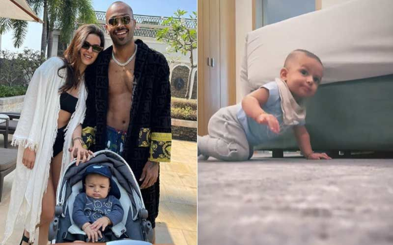 Natasa Stankovic And Hardik Pandya's Son Has Started Crawling And This New Video Of Agastya Is The Cutest – WATCH
