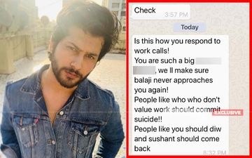 EXCLUSIVE: 'Namish Taneja, You Should Commit Suicide, Sushant Should Come Back': Fake Casting Agent For Naagin 5 ABUSES Vidya Star - Screen Shots Inside